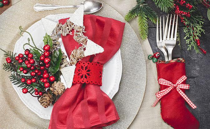 C mo adornar una mesa de navidad kleenex m xico - Adornar mesa de navidad ...
